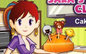 Pyrago žaidimas kuriame mergaitės gamina pyragą iš ledinukų
