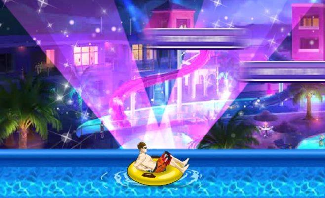 Lenktynės žaidimas vaikams, berniukai gali lenktyniauti su delfinu ir kitais.