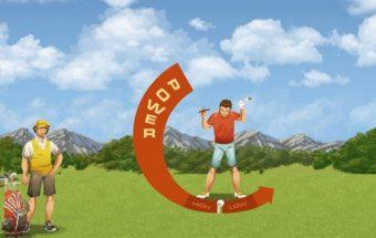 Žaidimas linksmasis golfas, surink kuo daugiau taškų ir nugalėk varžovą.