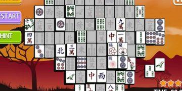 Loginis žaidimas su Afrikos elementais Mahjong Afrika.