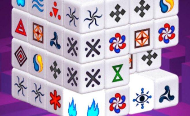 Mahjong dimensija tai kubas sudarytas iš Mahjong kortelių.