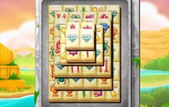 Sujunk du Mahjong paveiksliukus.