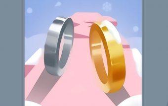 Įgūdžių žaidimas Meilės žiedų ridenimas.