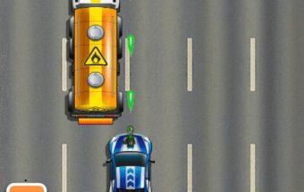 Lenktynių žaidimas su automobiliu.