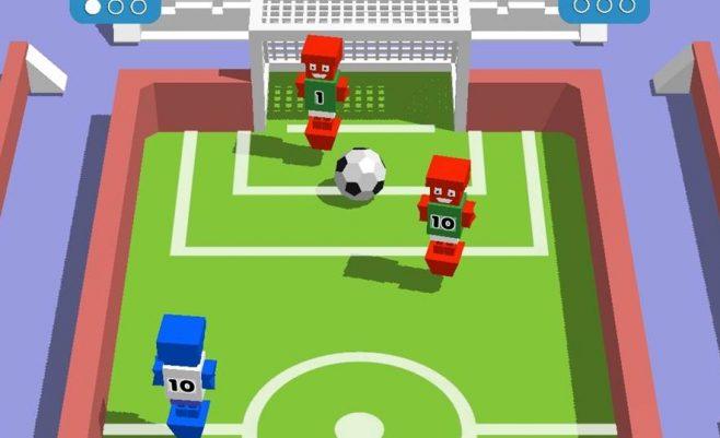 Sporto žaidimas - futbolas su minecraft.