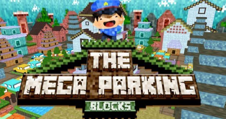 Minecraft žaidimas kuriame reikia priparkuoti arba pastatyti mašiną į jos vietą.