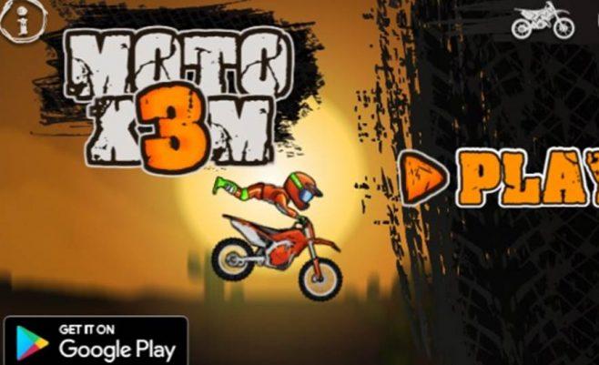Lenktynės su motociklu - moto 3x motociklai.