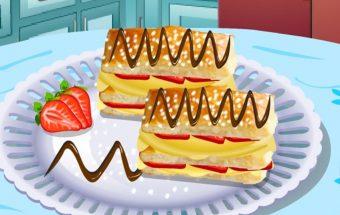 Maisto gaminimo žaidimas apie Napaleono pyragą