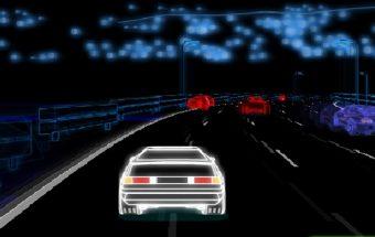neoninės mašinos lenktynių žaidimai