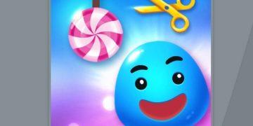 Loginis žaidimas - nukirpk virvę ir įmesk saldainį.