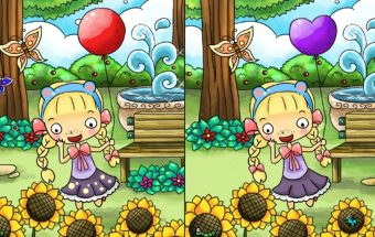 Mergaitės Emos žaidimas apie skirtumus