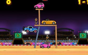 Mašinų lenktynių žaidimai online kur reikia peršokti kliūtis
