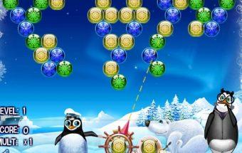 Žaidimo tikslas - spalvotų burbuliukų naikinimas