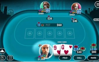 Atnaujintas pokerio žaidimas pokerio kortos.
