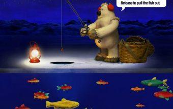 Žvejyba atliekama po ledu - žaidimas apie žvejybą
