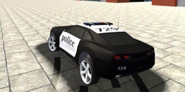Lenktynių žaidimas policijos automobilis.