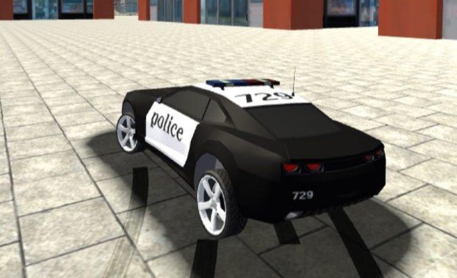 Policijos lenktynės - lenktynių žaidimas policijos automobilis.