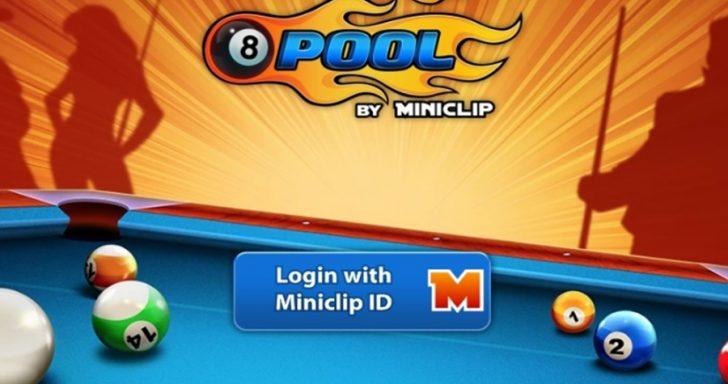 Biliardo pool žaidimas žaidžiamas internete