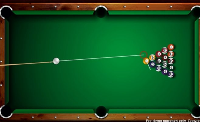 Biliardo žaidimas online.