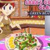Žaidimas apie pupeles ir salotas. Salotų gaminimas iš pupelių