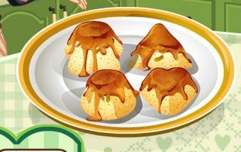 Pyragėlių iš razinų gaminimo žaidimas mergaitėms