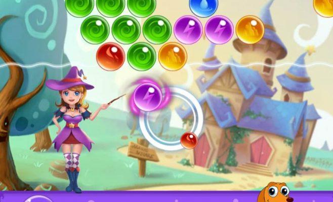 Burbuliukų šaudymas - raganos burbulai.