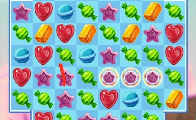 Loginis sujunk 3 žaidimas Saga saldainiai