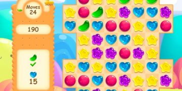 """Candy rain žaidimas, sujunk 3, panašus į """"Candy Crush""""."""