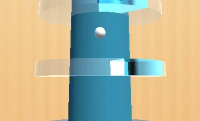 Šoklus kamuolys kita versija - Stiklo bokštas.