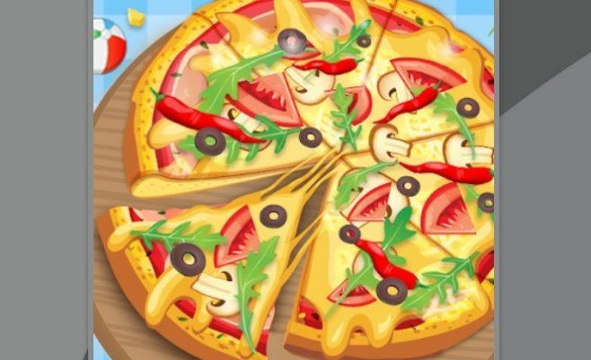 Maisto žaidimas vaikams picos gaminimas namų sąlygomis