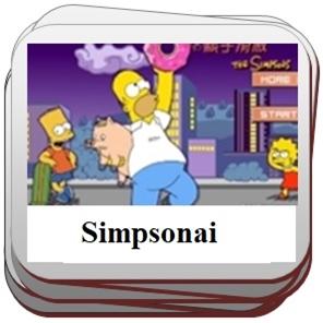 Simpsonai ir jų žaidimai.