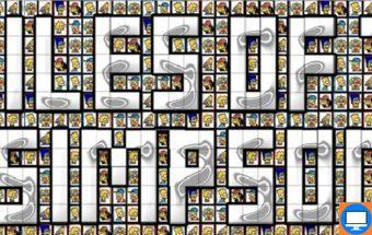 Simpsonų kaladėlių žaidimas su Mahjong kaladėlėmis
