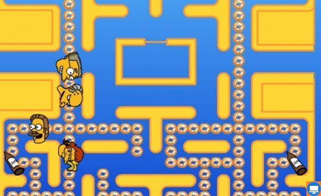Pacman žaidimas su Simpsonais