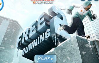 internetinis žiemos žaidimas su snieglentėmis.