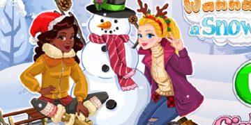 Kalėdinis žaidimas - Sniego senis.