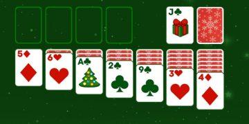 Kalėdinis solitaire žaidimas