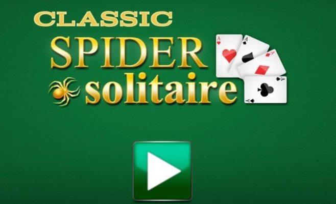 Kortų žaidimas Spider solitaire