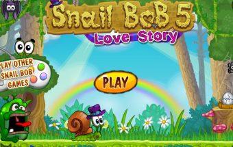 Nuotaikingas žaidimas apie Sraigę Bobą. Bobas ieško laimės. Žaidimas vaikams padės ją surasti