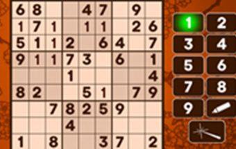 Klasikinis Sudoku žaidimas, sujunk ir surask tinkamus skaičius.