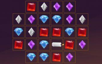 Loginis žaidimas sujunk 3 deimantus taip kad jie susinaikintų.