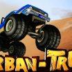 Sunkvežimio žaidimas kuris rieda per barjerus