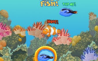 Žaidimas kuriame reikia pataikyti į žuvytę.