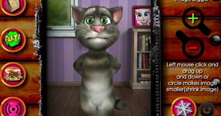 """Tai yra kalbantis katinas """"Talking Tom"""""""