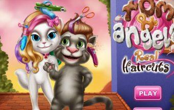 Tomo ir Angelinos šukuosenos - tai žaidimas kuriame turi padaryti katinams šukuoseną.