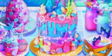Maisto gaminimo žaidimas Torto dekoravimas.
