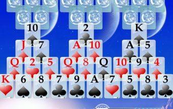 Koqrtų žaidimas Silitaire - mėnulio kortos