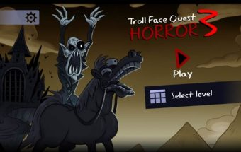 Siaubo žaidimas trolių veidas.
