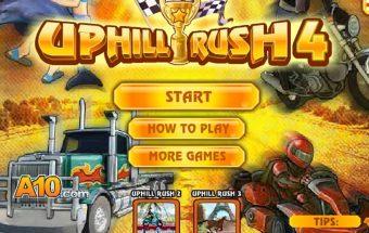 """Linksmas lenktynių žaidimas """" Uphill rush 4 """""""