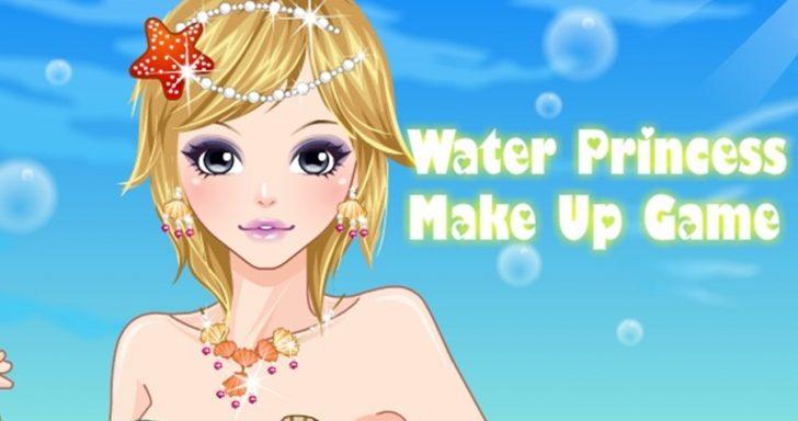 žaidime reikia sukurti tobulą makiažą gražuolei princesei.