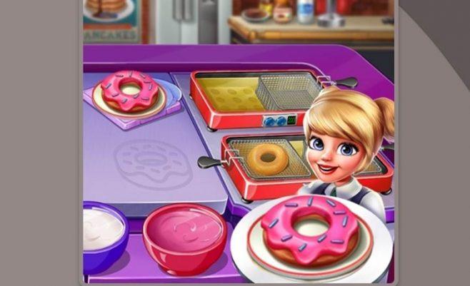 Maisto gaminimo ir tiekimo žaidimas Virtuvės šefė 2 dalis.